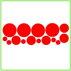 Raamsticker confetti rood