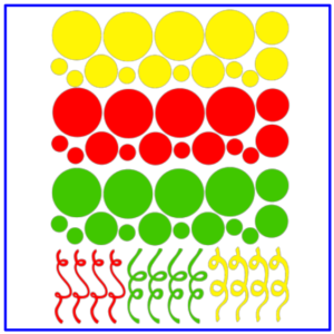 Raamsticker confetti serpentines mix rood geel groen