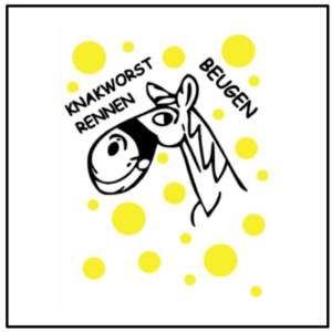 Raamsticker logo Knakworst Beugen