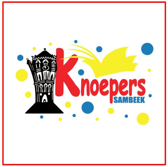 Raamsticker carnavalsvereniging de Knoepers Sambeel
