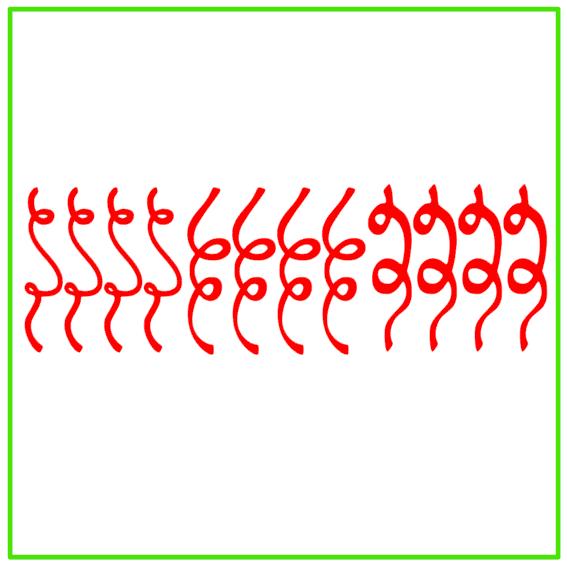 Raamsticker carnaval serpentines rood