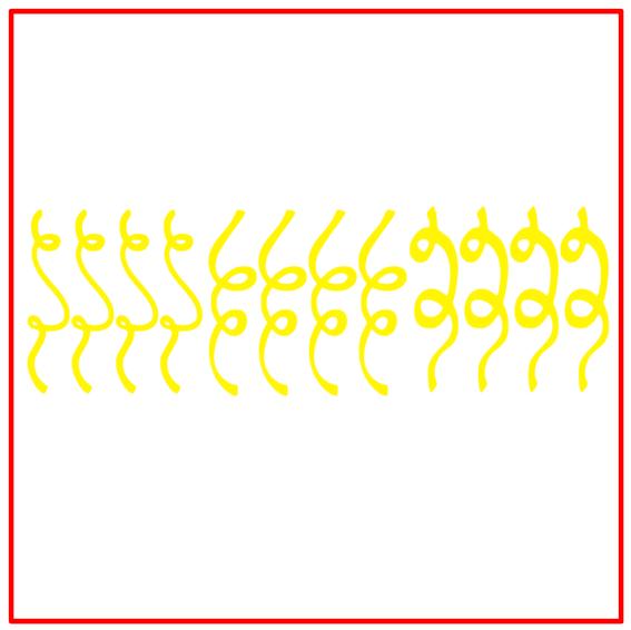 Raamsticker serpentines carnaval geel