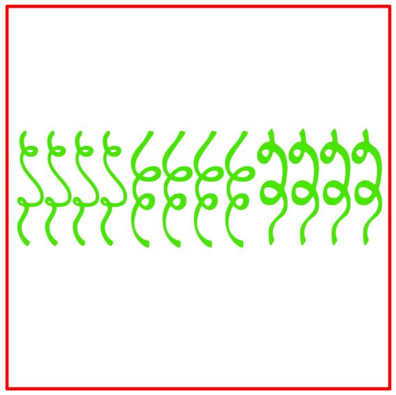 Raamsticker carnaval serpentines groen