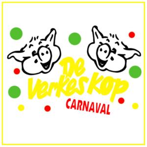 Raamsticker carnavalsvereniging De Verkeskop Beugen