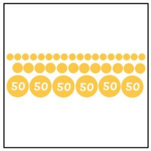 Raamsticker Confetti goud 50 jaar