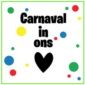 Raamsticker Carnaval in ons hart