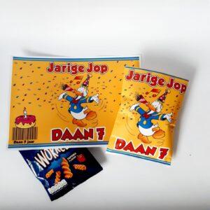 Voorbeeld traktatie chipswikkel Donald Duck